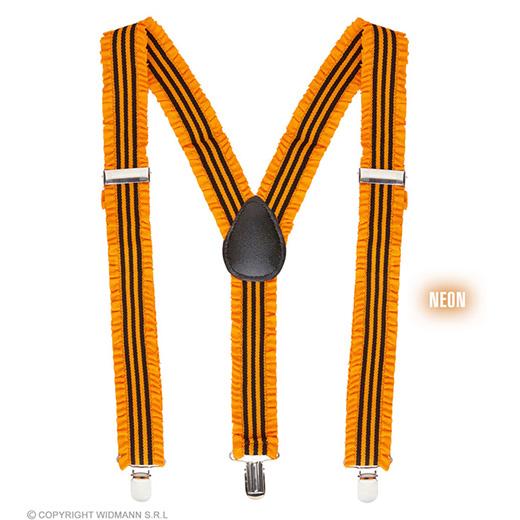bretels oranje met plooien