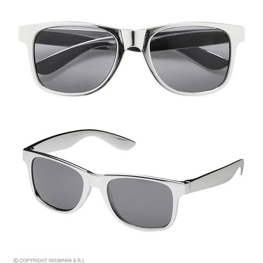 bril, zilver
