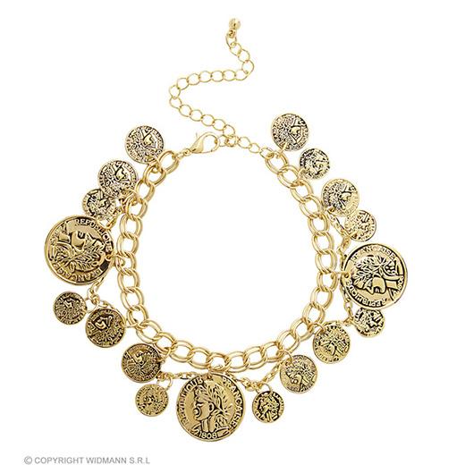 armband goud met muntstukken
