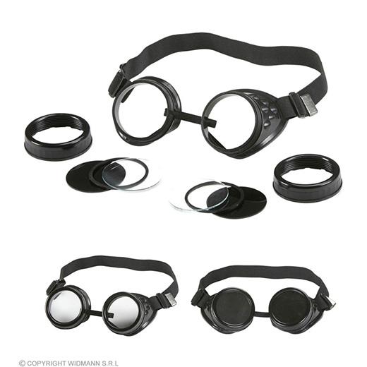 bril vliegenier met meerdere lenzen