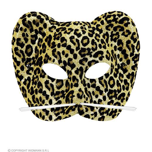 glittermasker luipaard