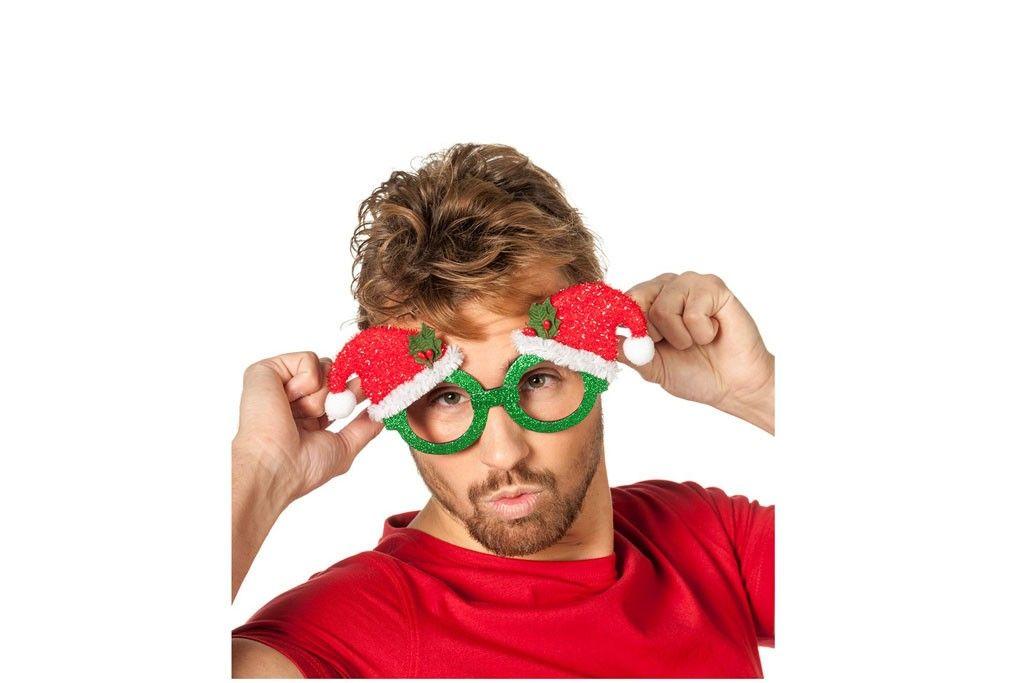 Kerstmuts Met Licht : Bril groen met kerstmuts robbies feestkleding