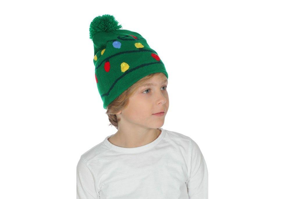 Kerstmuts Met Licht : Muts met kerstlichtjes groen met licht robbies feestkleding