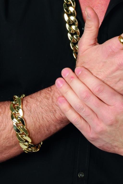 Armband pooier goud