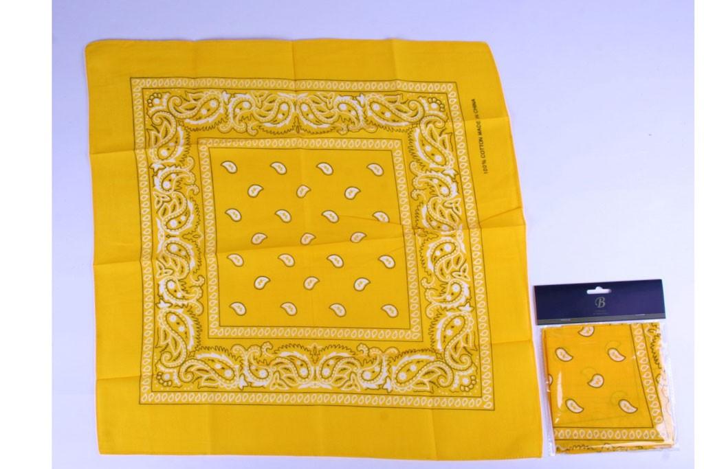 Boeren zakdoek geel