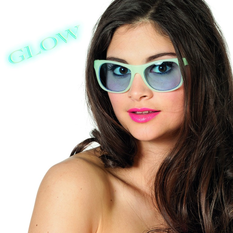 Bril glow in the dark blauw
