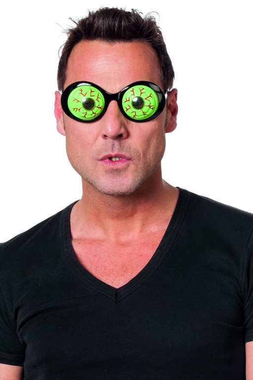 Bril gekke ogen groen