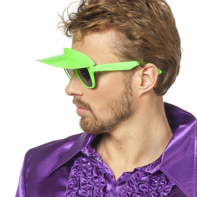 Bril met zonneklep groen