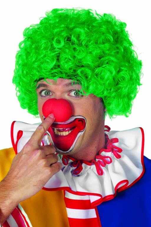 Clowns pruik groen