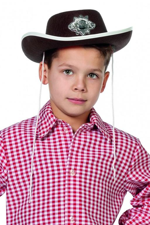 Cowboyhoed met ster bruin