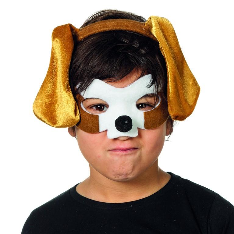 Dierenmasker met tiara hond