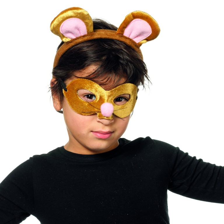 Dierenmasker met tiara muis