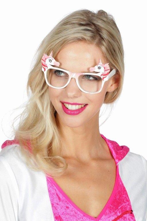 Bril Eenhoorn roze