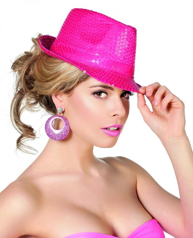 Gangsterhoed fluo pink