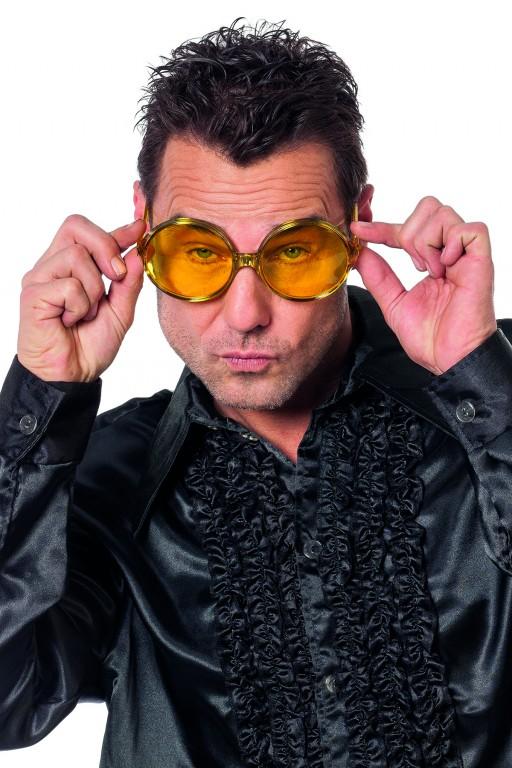 Bril grote ronde glazen geel