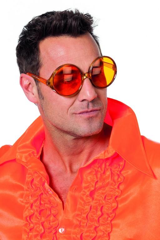 Bril grote ronde glazen oranje