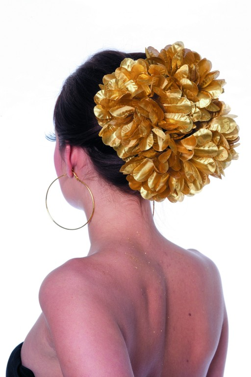 Haarclip bloem goud