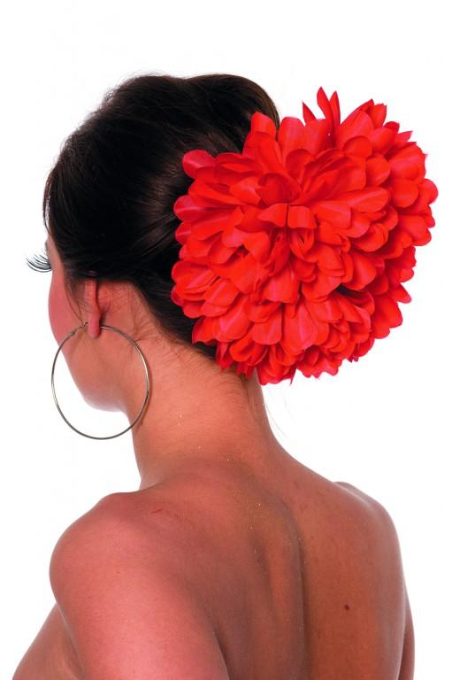Haarclip bloem rood