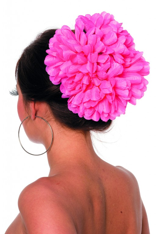 Haarclip bloem rose