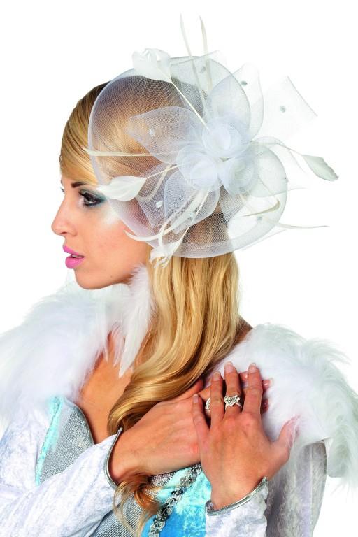 Haarkam bloem wit