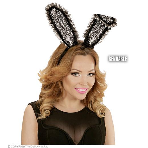 bunny oren kant, zwart