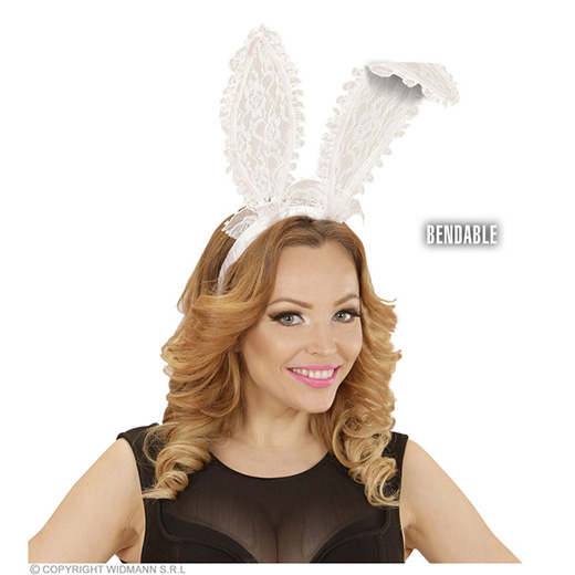 bunny oren kant, wit