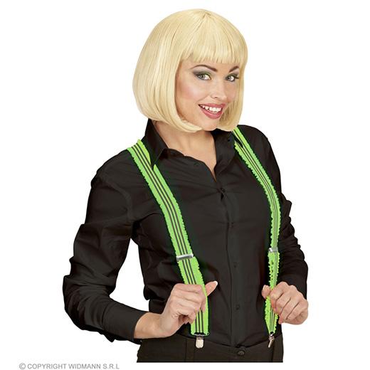 bretels groen met plooien