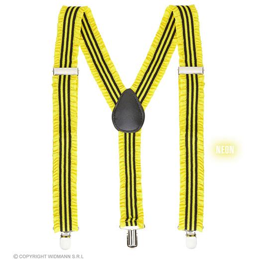 bretels geel met plooien
