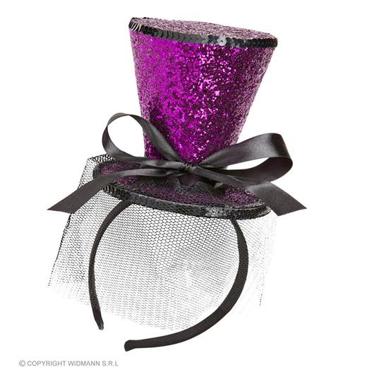 rose mini hoge hoed met sluier