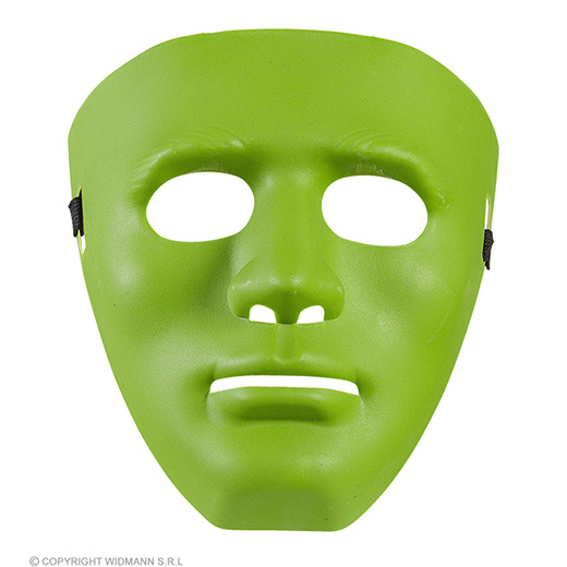 masker anonym groen