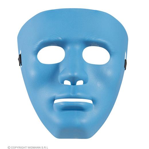 masker anonym blauw