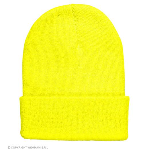 beanie neon geel