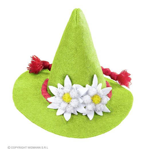 mini bayern hoed met edelweiss, groen