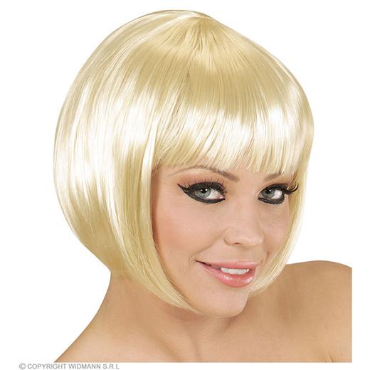 pruik, boblijn blond