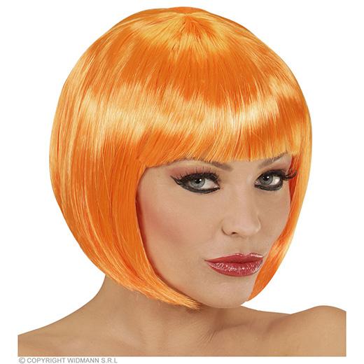 pruik, boblijn oranje