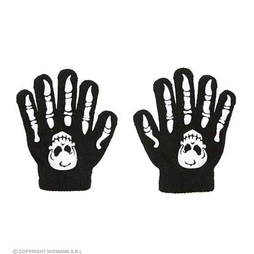 handschoenen botten met schedel, kind