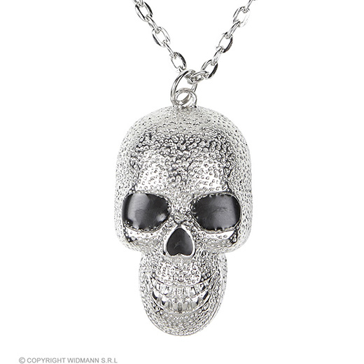 ketting zilver met schedels