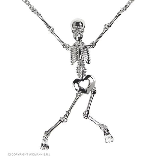 zilveren ketting met skelet