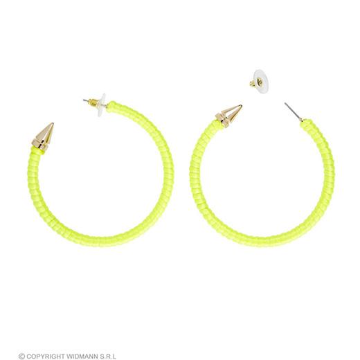 oorbellen neon geel