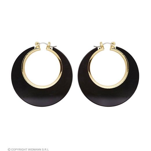 oorbellen disco zwart/goud