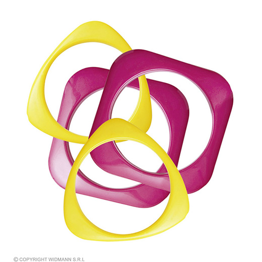 armband disco rose/geel