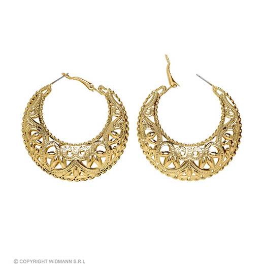 oorbellen goud zigeunerin/romeinse