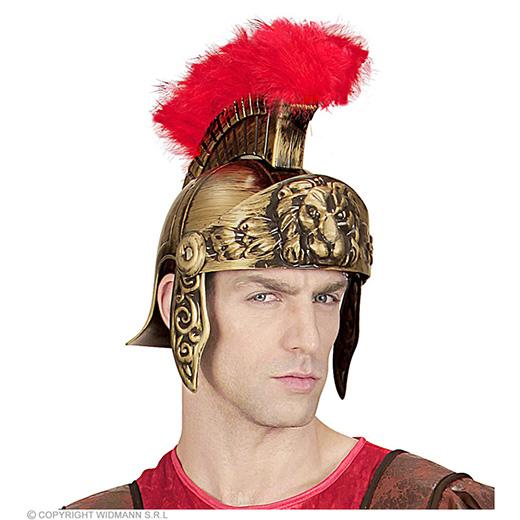 ouderwetse romeinse helm, goud