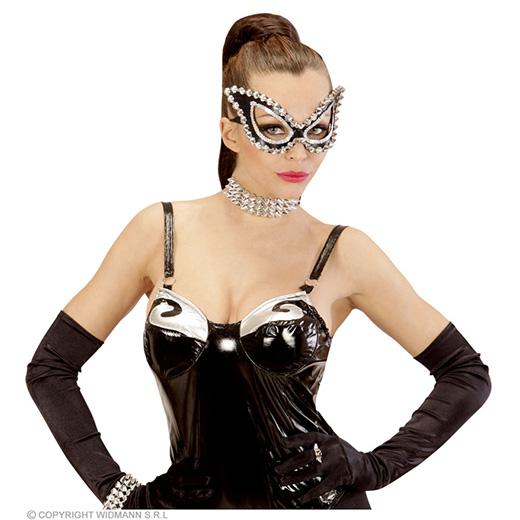 oogmasker kat zwart s&m met nagels