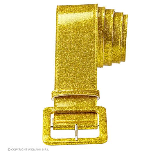 riem glitter 120cm, goud