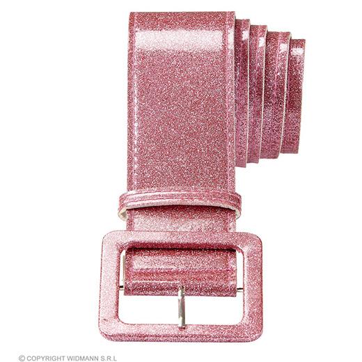 riem glitter 120cm, rose