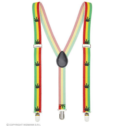 bretels jamaica met marihuana blad