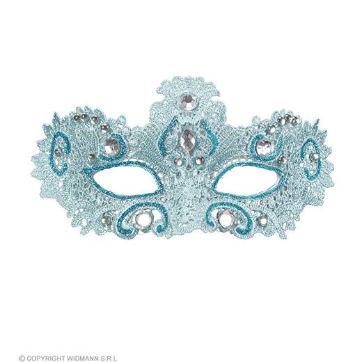 oogmasker, adelijk azuur met glitters en stenen