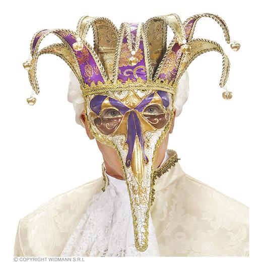 luxe masker joker met lange neus