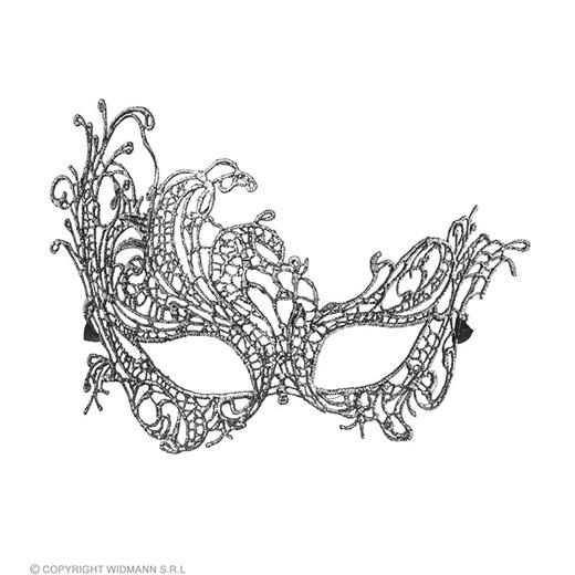 oogmasker kant, antiek zilver barok